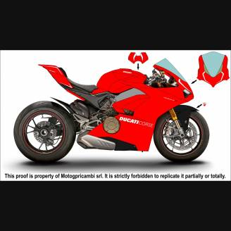 Painted street fairings in abs compatible with Ducati Panigale V4 V4S for  Akrapovic exhaust - MXPCAV7278
