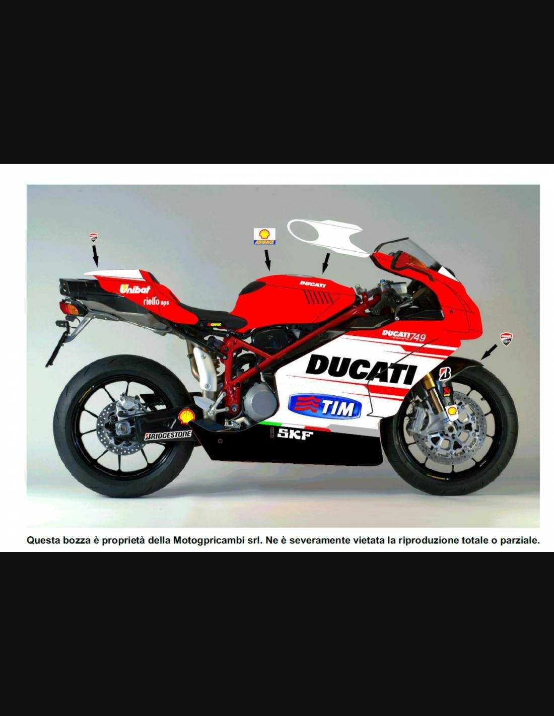 1 SET Motorcycle Fairing Bolt Kit For Ducati 748 1994–2003 Ducati 749 2003-2006