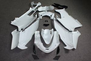 Complete and unpainted fairings with front fender