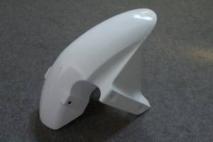 Complete and unpainted fairing in abs with front fender