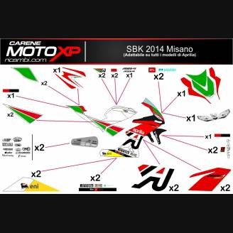 Sticker Set Compatible With Aprilia Rs 125 2006 2010 Mxpkad8117
