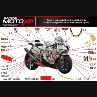 stickers kit stickers compatible RSV 1000 2005 R FACTORY