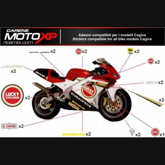 Sticker Set Compatible With Cagiva Mito Ev 2008 2012 Mxpkad8342