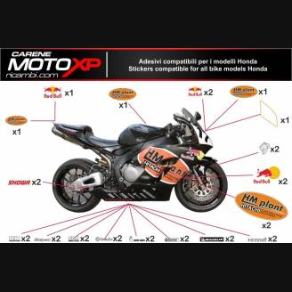Sticker set compatible with Honda Cbr 600 RR 2013 - 2019 - MXPKAD9087