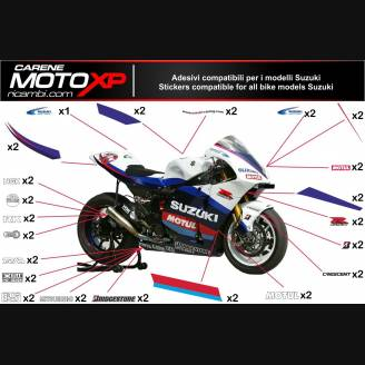 Sticker set compatible with Suzuki Gsxr 1000 2017 - 2019 - MXPKAD10486