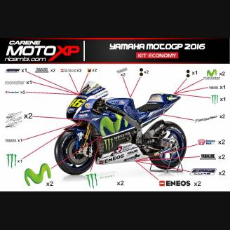 Sticker Set Compatible With Yamaha R1 2015 2019 Mxpkad11283