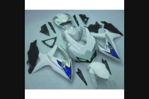 Complete and painted fairings in abs WHITE BLACK