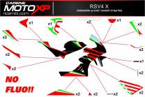 Stickers Kit Aprilia RSV4 X NO Fluo