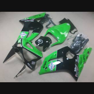 Complete and painted fairings in abs KWS 636 03 04 NK