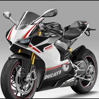 Painted street fairings in abs compatible with Ducati Panigale V4 V4S for  Akrapovic exhaust - MXPCAV11945
