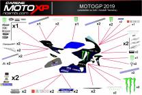 Sticker set compatible with Yamaha R1 2015 - 2019 - MXPKAD11856