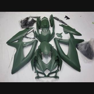 Painted street fairings in abs compatible with Suzuki Gsxr 600/750 2011 - 2018 Matt Black - MXPCAV3137
