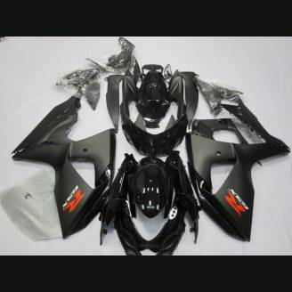 Painted street fairings in abs compatible with Suzuki Gsxr 1000 2009 - 2016 Matt Black - MXPCAV2706