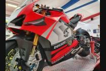 Carene stradali in abs verniciate compatibili con Ducati Panigale V4R per scarico Akrapovic - MXPCAV11937