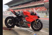 Carenage Racing Peint Ducati Panigale V4 V4S de Pare-bouee coque Neoprene + cache réservoir, crochets rapide fluo - MXPCRV11781