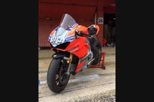 Painted Race Fairings Ducati Panigale V4 V4S with back seat Neoprene seat + tank cover, screws, fasteners  fluo - MXPCRV11781