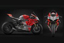 Lackierte Rennverkleidung Ducati Panigale V4 R 2019 - 2020 Matt Fluo  -MXPCRV12290