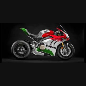 Painted street fairings in abs compatible with Ducati Panigale V4 V4S for Akrapovic exhaust Matt fluo 2020 - 2021 - MXPCAV12655