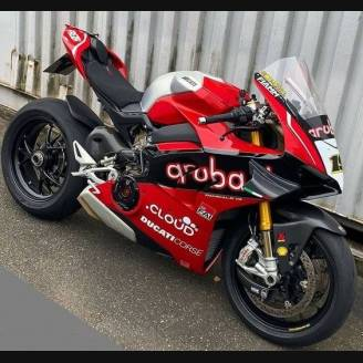 Painted street fairings in abs compatible with Ducati Panigale V4 V4S for Akrapovic exhaust 2020 -2021 - MXPCAV12702