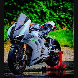 Painted street fairings in abs compatible with Ducati Panigale V4 V4S for Akrapovic exhaust 2020 - 2021 - MXPCAV12702
