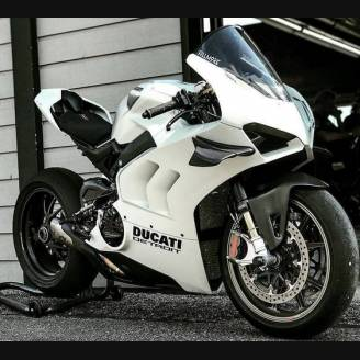 Painted street fairings in abs compatible with Ducati Panigale V4 V4S for Akrapovic exhaust 2020 - 2021 - MXPCAV12704