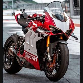 Painted street fairings in abs compatible with Ducati Panigale V4 V4S for Akrapovic exhaust 2020 -2021 - MXPCAV12704