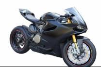 Lackierte Rennverkleidung Ducati 1299 959 Panigale Matt Black  - MXPCRV5854