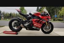 Carene stradali in abs verniciate compatibili con Ducati Panigale V4R per scarico Akrapovic - MXPCAV12761