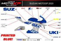 Sticker set compatible with Suzuki Gsxr 1000 2017 - 2020 -MXPKAD12111