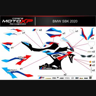 Sticker set compatible with Bmw S 1000RR 2019 - 2020 - MXPKAD12780