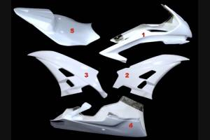 Yamaha R6 2006 2007 Front fairings without back seat   - MXPCRD583