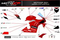 Sticker set compatible with Ducati Panigale V4 V4S V4R 2019 - 2021 - MXPKAD12778