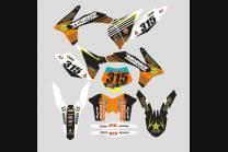 Sticker set compatible with per KTM EXC EXC-F 200 250 450 2003 - MXPKAD13398