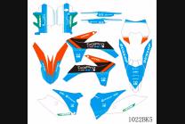 Kit Autocollants compatible avec per KTM EXC EXC-F 125 200 250 350 450 2012 - 2013 - MXPKAD13435