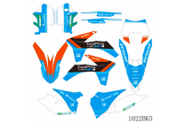 Sticker set compatible with per KTM EXC EXC-F 125 200 250 350 450 2012 - 2013 - MXPKAD13435