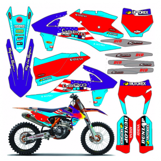 Sticker set compatible with per KTM EXC EXC-F 200 250 300 350 450  2017 - 2019  - MXPKAD13450