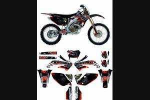 Sticker set compatible with per Honda CRFX 450 2004 - 2018 - MXPKAD13268