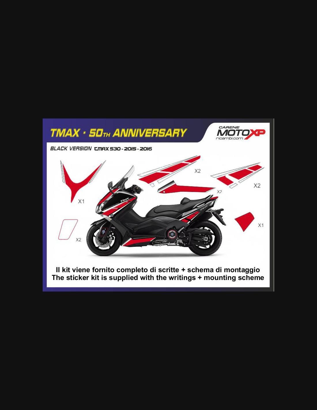 Sticker set compatible with Yamaha T Max 530 2015 - 2016 - MXPKAY6500
