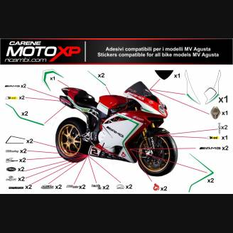 Sticker Set Compatible With Mv Agusta F3 675 800 Mxpkad6509